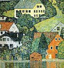 Gustav Klimt Houses at Unterach on the Attersee painting